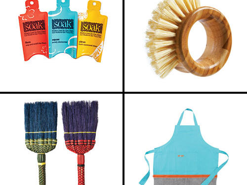 You would never gift a bottle of detergent—atleast we hope not—but, miniature packages of Soak Wash can be a thoughtful choice. How about giving a broom? We wouldn't hear it! But, present us with an itsy whisk sweeper and we will swoon. These gifts are everyday housewares with a special mix of function and fabulous.