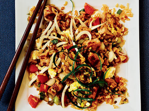Almost Classic Pork Fried Rice Whole-Grain Recipe
