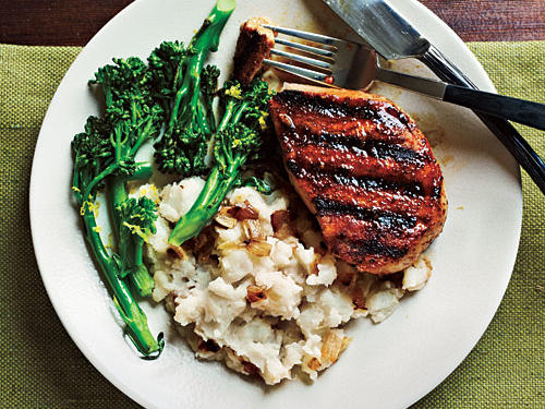 Smoky Pan-Grilled Pork Chops Recipe
