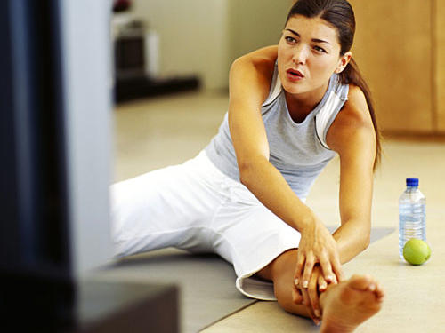 Exercise while watching TV