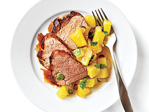 Tamarind Pork with Pineapple-Ginger Chutney recipe