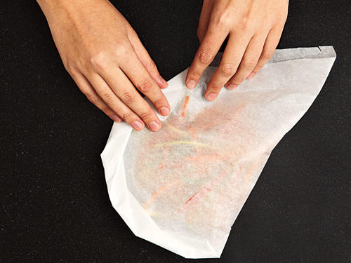 How to Cook Fish in Parchment: Make Overlapping Folds on Paper