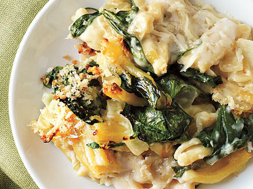 100 Pasta Recipes: Baked Pasta with Spinach, Lemon, and Cheese