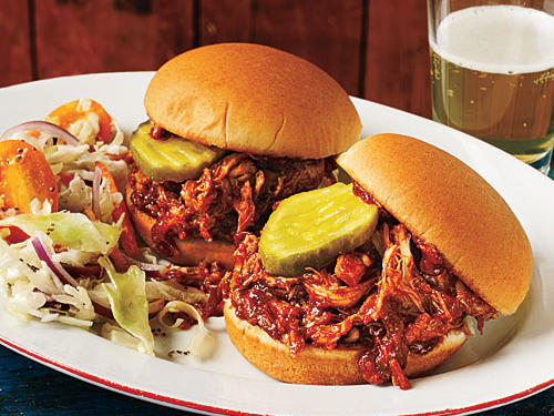Barbecue Pulled Chicken Sliders Recipe