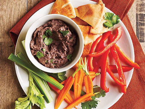 This Middle Eastern dip is made with black beans instead of the traditional chickpeas. And for a bit of extra flavor, stir in some jalapeño pepper and lime juice.