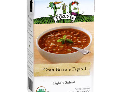 Just introduced last December, the Fig Food line of organic plant-based soups makes it easy to put whole grains on the daily menu with varieties like Tuscan Bean, Split Pea and Yucatan Black Bean with Epazoate, and our favorite, a variety made with the nutty Italian grain called farro. All come lightly salted, a rarity in packaged foods. Cartons are BPA-free, recyclable and need no refrigeration. One serving has 9 grams of fiber, 180 calories, and 260 milligrams of sodium.