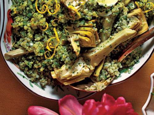 Quinoa Salad with Artichokes and Parsley Recipe
