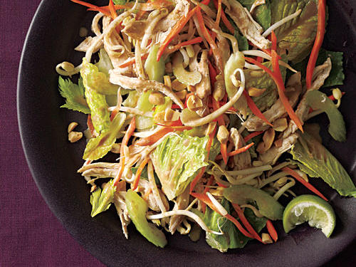 Healthy Thai Chicken Salad with Peanut Dressing Recipe