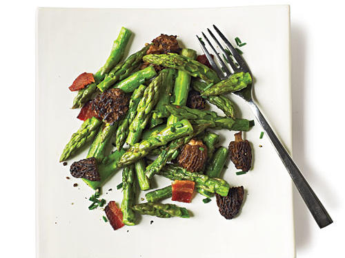 Showcase spring's mighty morels in this simple, yet elegant side dish. Garnish with fresh chopped ramp greens or chives if you don't have the former on hand.