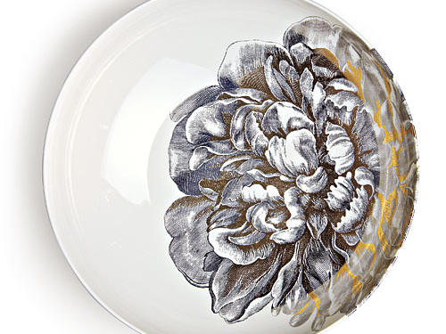Caskata's gold- and platinum-plated 13-inch Peony bowl would make a lovely gift for a spring wedding—whether it's on the registry list or not.Price: $140Shop: Michael C. Fina