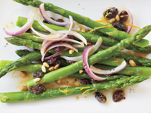 Raisin and Pine Nut Asparagus Recipe