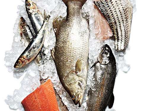 "Just about the time the idea that seafood was heart-healthy had become widely understood, the sustainability issue crept into the picture. Some of the fish that rate high on ecofriendly lists (tilapia, for instance) are also among the lowest in omega-3 fatty acids. But don't give up just yet and look to, say, nuts for all your good fats. Fish is the best source of two important types of omega-3s, DHA and EPA. The fish mentioned here provide two to six times a daily dose, and they're great sustainable options, as well.OMEGA-3s, THE ""GOOD"" FATSHow much to aim for: 250mg per day.How they help your heart: Protect against cardiovascular disease by lowering blood pressure, reducing arterial inflammation, and helping your heart beat at a steady rhythm."