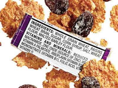 YES: With whole grain wheat as the first ingredient, this variety of raisin bran is indeed whole grain, boasting more than 27 grams of whole grain per serving. These flakes are a great way to work whole grains into your morning routine, but watch the added sugars and salt, which lend unwanted calories and sodium to each filling bowl.