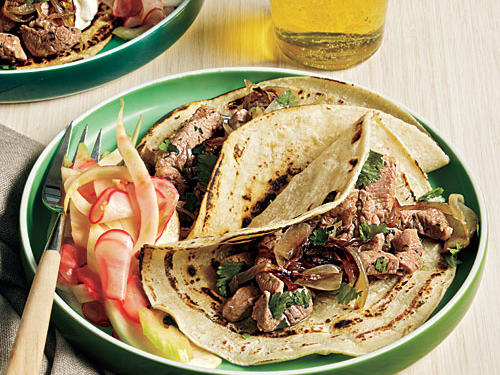 Cook tortillas over an open gas flame or in a grill pan for chargrilled flavor.