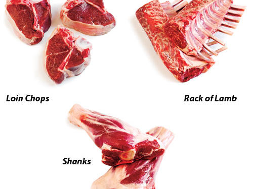Loin Chops: These affordable, versatile chops are quick-cooking so they're great for week night meals. Marinate over night so flavor permeates or simply season and cook. For best flavor and visual appeal, sear them and roast at high heat.Rack of Lamb: Rack of lamb is a prime cut for special occasions. Sear in a hot pan, coat with breadcrumbs or other flavorful ingredients, and roast the lamb at high heat. Its lean meat becomes tough if overcooked, so we recommend removing it from the oven when it reaches an internal temperature of 130º. Then allow it to stand until it reaches 135º for medium-rare.Shanks: Lamb shanks are a tough cut with loads of connective tissue that breaks down over time when cooked at a low temperature. Slow roasting renders the meat tender and succulent.