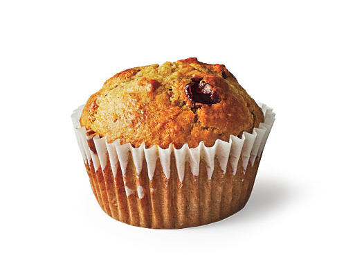Dried cherries enliven a hearty muffin featuring nutty wheat germ. Vary the flavor with dried apricots or blueberries.