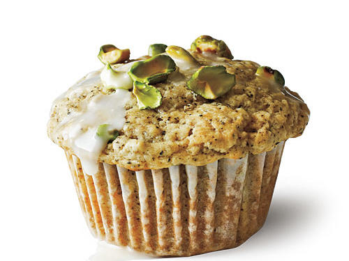 Yes, muffins can be healthy. Thanks to delicious pistachios, just one of these muffins provides nearly 4 grams of protein, making it a good option for a quick breakfast-on-the-run.