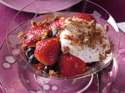 Champagne-Soaked Berries with Whipped Cream Recipe