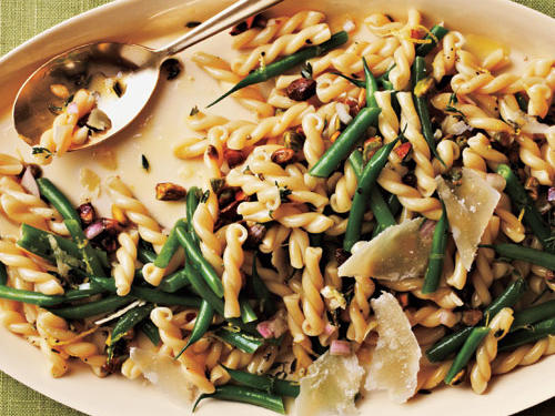 Gemelli Salad with Green Beans, Pistachios, and Lemon-Thyme Vinaigrette Recipe