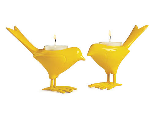 CB2 Canary Candleholder