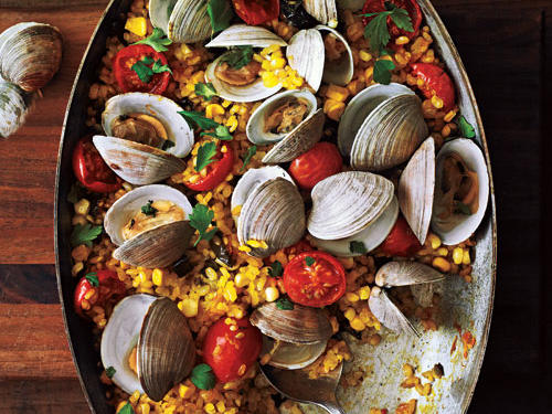 """Love the crunchy rice on the bottom of the pan, and clams lend the dish a delicious sweet brininess,"" said Tim Cebula, Associate Food Editor."