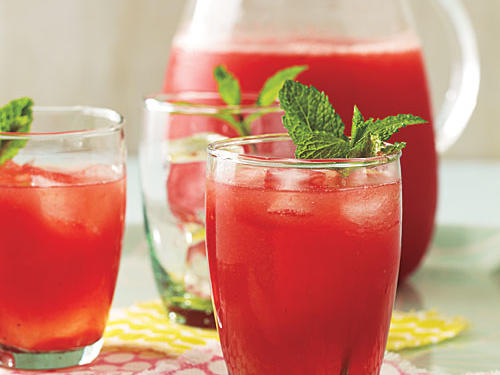 Minted Lemon-Lime Watermelon Agua Fresca Recipe
