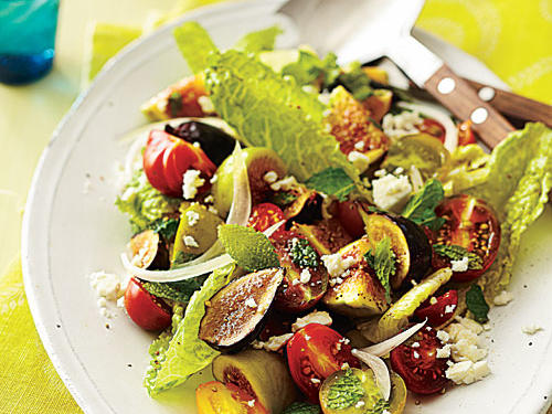 The ingredient list for this recipe is full of fresh summer flavors that are perfect for a light, yet satisfying, salad. Use any fig variety you like or a combination of varieties.