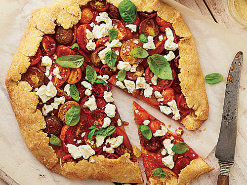 Summer Tomato, Feta, and Basil Galette Recipe