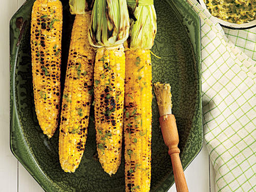 4th of July Recipes: Grilled Corn on the Cob with Roasted Jalapeño Butter