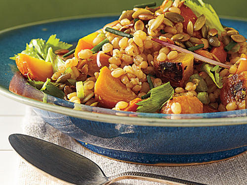 Golden Beet Salad with Wheat Berries and Pumpkinseed Vinaigrette Recipe