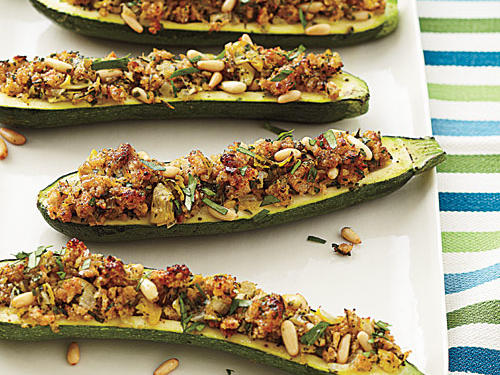 Stuffed Zucchini with Cheesy Breadcrumbs Recipe