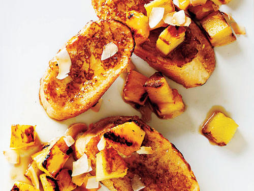 Coconut French Toast with Grilled Pineapple Recipe