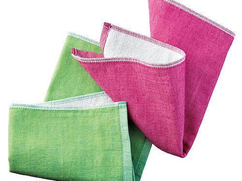Yoshii towels have peach-skin-soft chambray on one side, absorbent terry on the other.Price: $10Shop: Rikumo