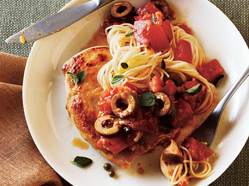 Quick and easy italian recipes cooking light chicken puttanesca recipe forumfinder Gallery