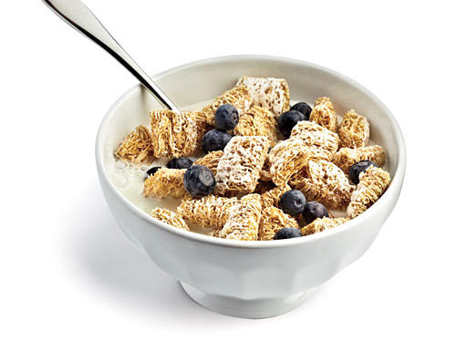 Read cereal box before pouring the bowl. Had avoided Frosted Mini-Wheats because of the sugar but notice they contain much less sodium than my usual bran-and-raisin routine.Saved: 245mg