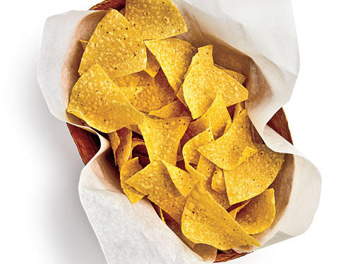 Resist urge to polish off most of basket of chips. Restrain myself to, let's say, one-tenth.Saved: 484mg