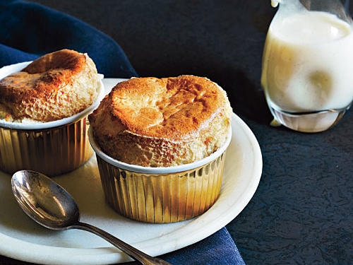 Brown Sugar Soufflés with Crème Anglaise
