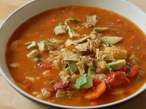 Reader Photo: Spicy Tortilla Soup with Shrimp and Avocado
