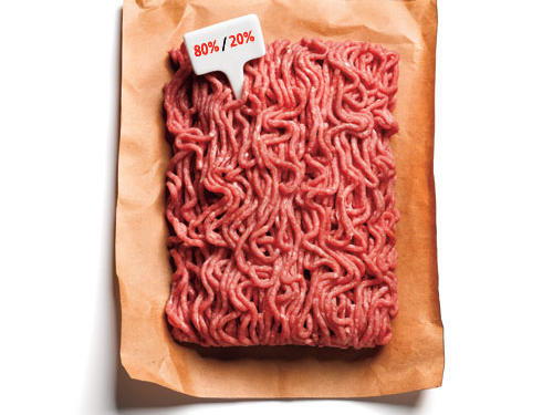 20. You buy 80/20 ground beef because it's a good thing that only 20% of the calories come from fat.
