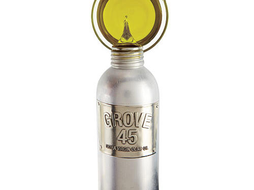 Grove 45's olive trees are Italian imports. But the olives they produce are grown, harvested, and pressed into spicy extra-virgin oil in the Napa Valley.