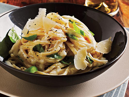 Linguine with Two-Cheese Sauce Recipe