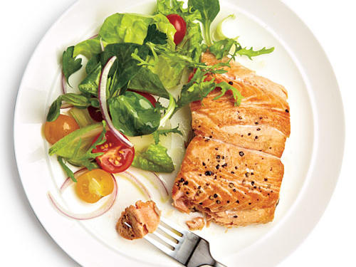 Salmon is an excellent source of heart-healthy omega-3 fatty acids.