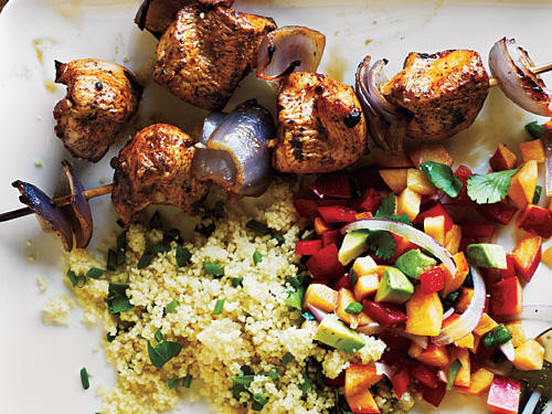 Chicken Kebabs and Nectarine Salsa Recipe