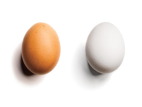 1. You pick brown eggs over less-nutritious white.