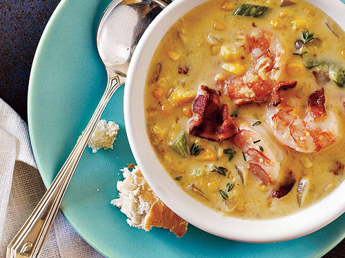 Bacon-Corn Chowder with Shrimp Recipe