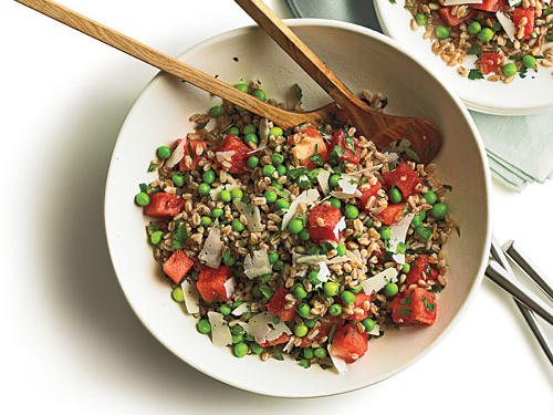 1602 Summer Pea, Watermelon, and Farro Salad