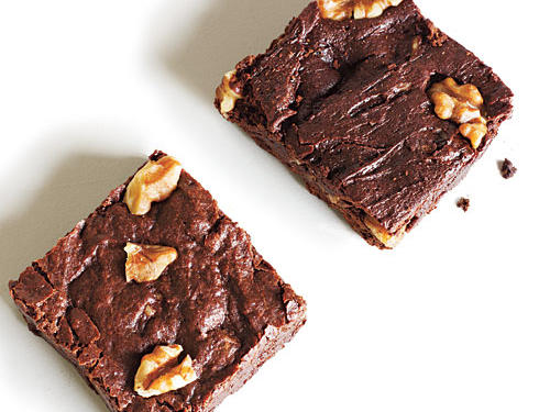 The best brownies are fudgy, chewy, and dense, with the thinnest sugar crust on top. Achieving all this in a light recipe can be tricky: If you use too little fat or too much flour, or leave the brownies just a minute too long in the oven, results will range from springy cakes to dry pucks. These recipes, though, yield decadent success, from full-throttle chocolate with meaty walnuts to salty-sweet caramel-drenched bars and even a bonus blondie (or two).