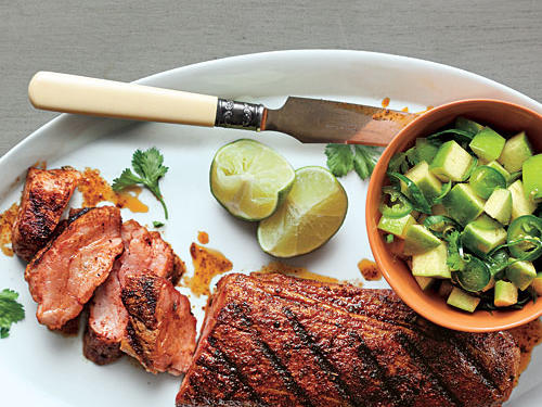 Spanish Pork with Apple-Citrus Salsa Recipe