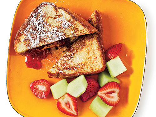 What kid (or grown-up, for that matter) wouldn't love this ooey-gooey sandwich? Serve the souped-up PB&Js with fresh fruit.