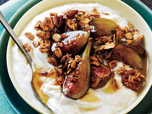 Ways with Yogurt: Granola with Honey-Scented Yogurt and Baked Figs
